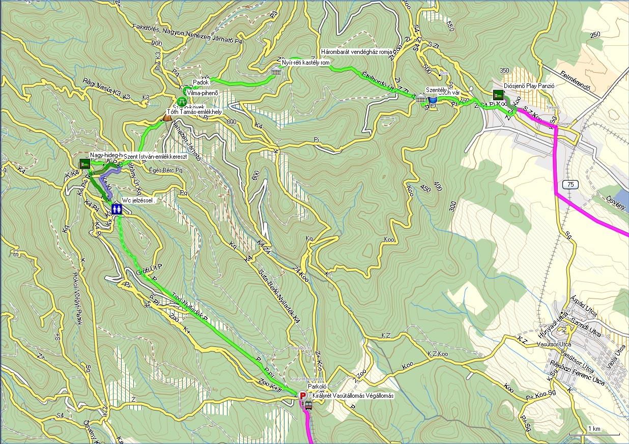 diósjenő térkép Börzsöny túra diósjenő térkép