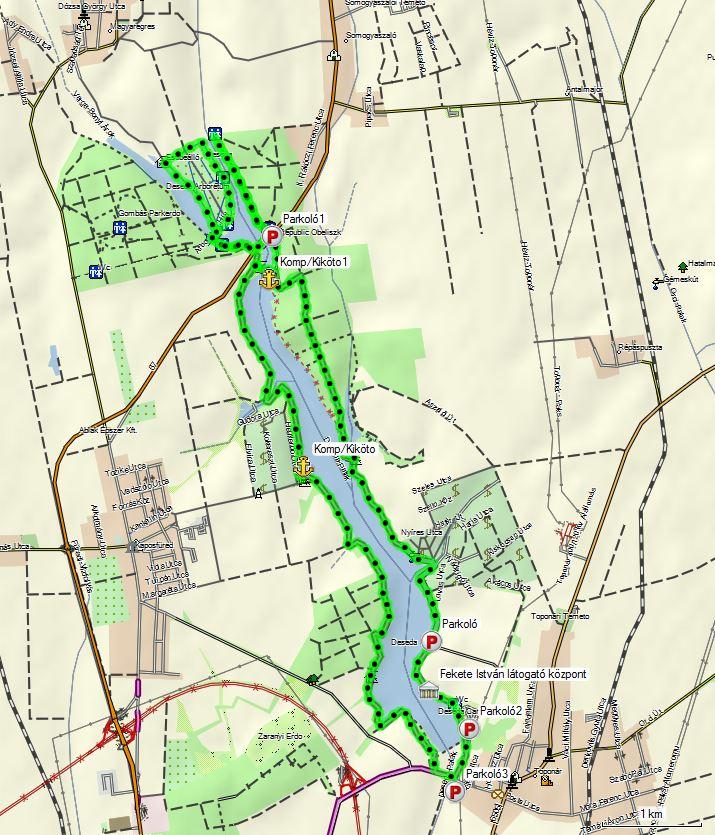 deseda kerékpárút térkép Hernád túra